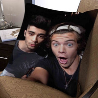 "hary styles and zayn malik selfie pillow ---- pillow one and two side by  ""galaxyplatinum"","