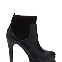 FOREVER 21 Faux Leather Stiletto Booties Black