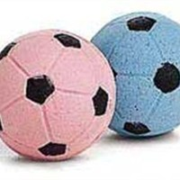 Ethical Sponge Soccer Balls Cat Toy, 4-Pack