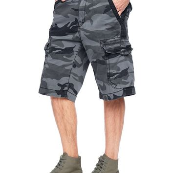 True Religion Camo Trooper Isaac Mens Cargo Short - Granite