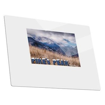 Pikes Peak CO Mountains Text Metal Panel Wall Art Landscape - Choose Size by TooLoud