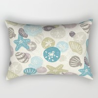 A Walk on the Beach Rectangular Pillow by Noonday Design | Society6