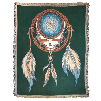 Grateful Dead Dreamcatcher Stealie Woven Cotton Blanket