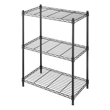 Small 3-Shelf Storage Rack In Black Metal