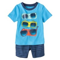 Circo® Infant Toddler Boys' Sunglasses Tee & Striped Short Set