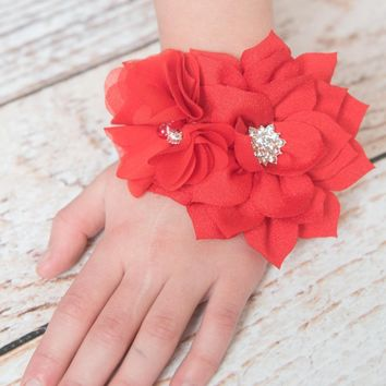 Red Christmas Flower Corsage