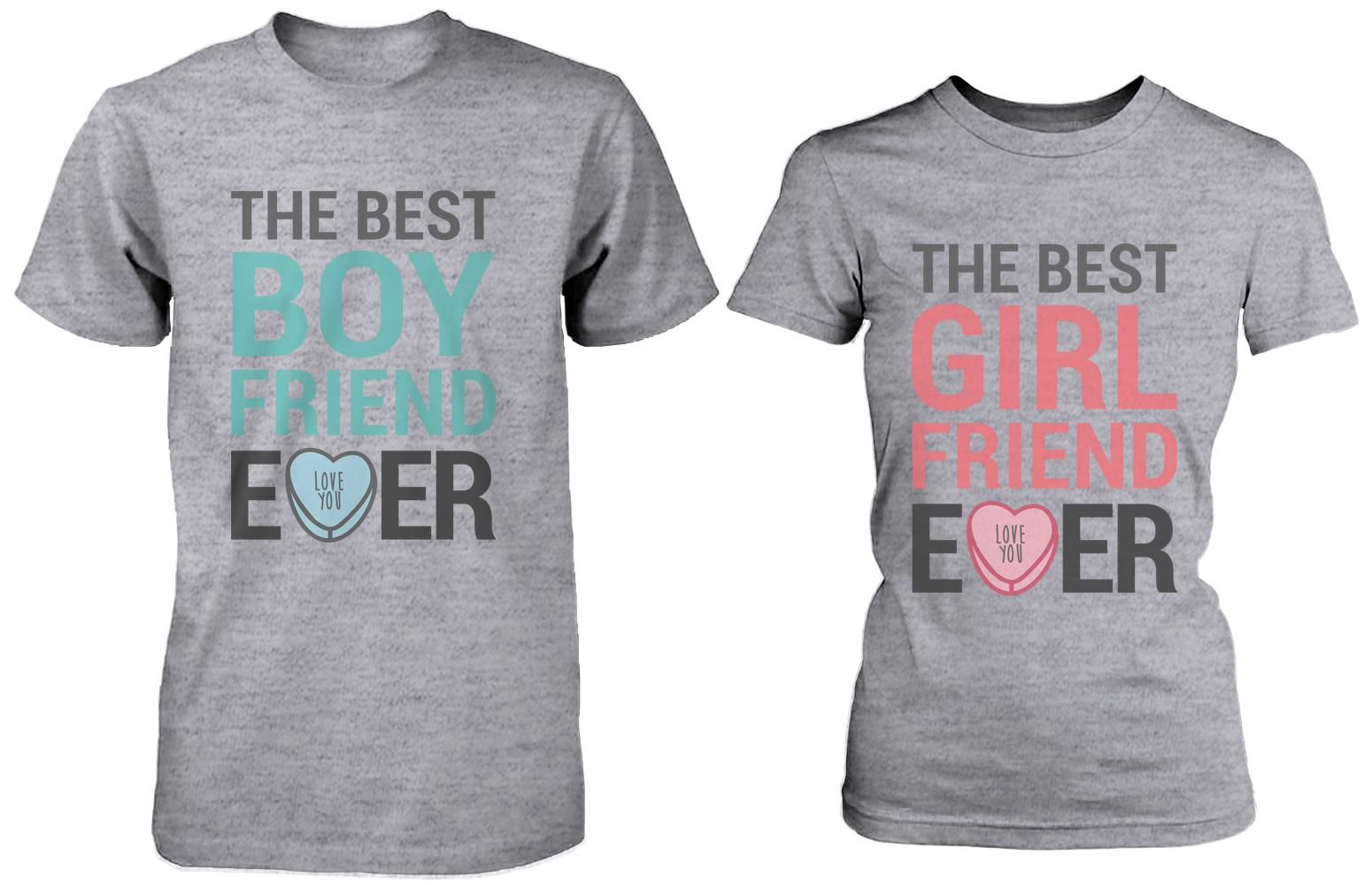 20d2c1ed5b The Best Boyfriend & Girlfriend Ever Matching Couple Shirts in Grey ...