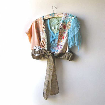 Sentiments Jacket Antique Silk Embroidery by AllThingsPretty