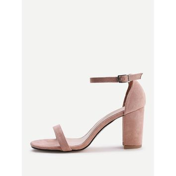 Apricot Two Part Block Heeled Sandals