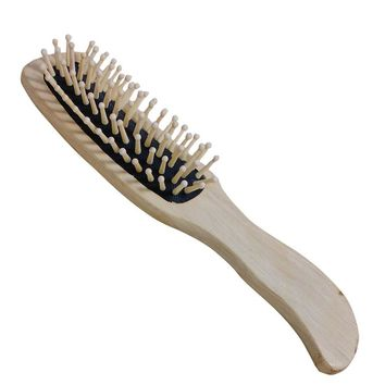 Natural Bamboo 1Pc Wooden Hair Vent Paddle Brush Hair Keratin Care Spa Massage  Comb Styling Brushes Tools HJL2017