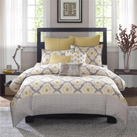INK+IVY Ankara  Cotton Printed Comforter Bedding Set, Yellow