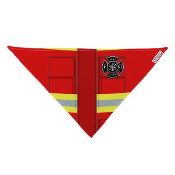 "Firefighter Red AOP Dog Bandana 26"" All Over Print"