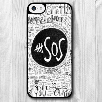 5SOS case for iphone 5 draft calum hood luke hemmings ashton iwin michael clifford one direction 5 seconds of summer 5c 4s 4