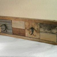 Rustic Coat Rack/Hat Rack made with Reclaimed Wood