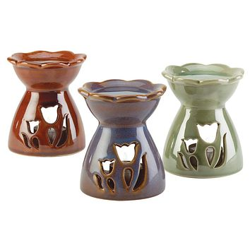 Tulip Oil Warmer Trio with 3 Tea Lights and Choice of Oil
