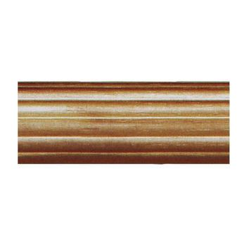 """House Parts 6 Foot - 1 3/8"""" Reeded Wood Pole For Curtains"""