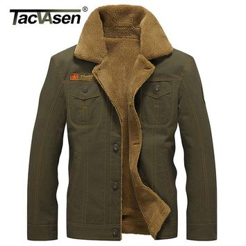 TACVASEN New Military Tactical Jacket Men Winter Thermal Cotton Jacket Coat Army Pilot Jackets Air Force Parka Men TD-QZQQ-006