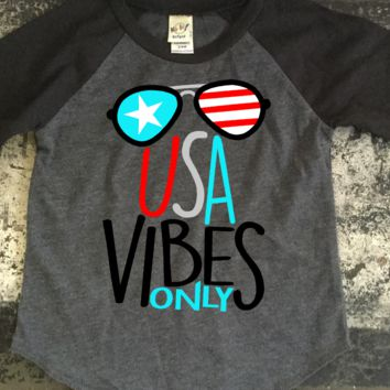 Custom - USA Vibes Only Newborn to adult