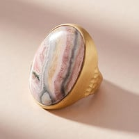 Rhodochrosite Cocktail Ring