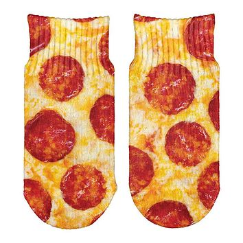 Pepperoni Pizza Costume All Over Toddler Ankle Socks