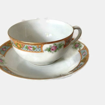 Vintage Noritake Teacup, Gift for Mom, Vintage Tea Cups and Saucers, Gift for Grandma, Collectible Tea Cups, Noritake Teacup