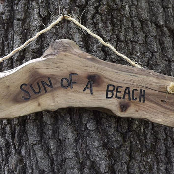 funny wood sign/ sun of a beach/ door sign/ personalized sign