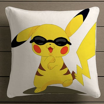 gangnam style pikachu pokemon Square Pillow Case Custom Zippered Pillow Case one side and two side