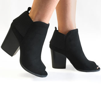 That's So Suede of You Booties in Black