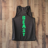 Beast Shirt Tank Top Racerback Racer back T Shirt Top – Size S M L
