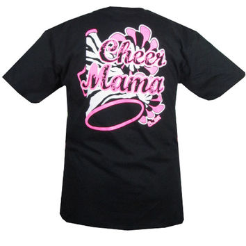 Bjaxx Cheer Mama Mom Cheerleading  Zebra  Sports Girlie Bright T Shirt