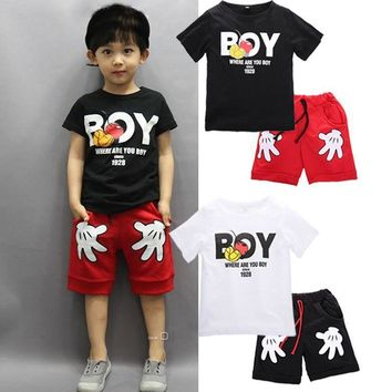 Toddler Girls Clothing Sets Kids Baby Outfit Christmas Costumes For Boy Clothes Sets 2017 New summer Children Sport Suits
