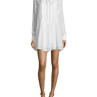FRAME DENIM Le Victorian Button-Front Shirtdress, Blanc
