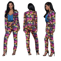 Print Street-style Two Piece Casual Suit