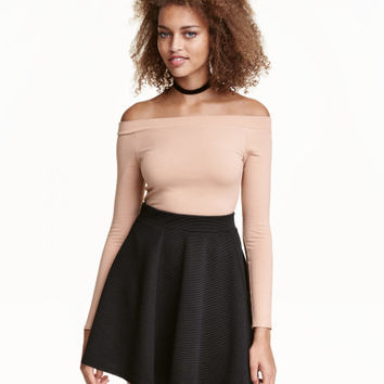 Off-the-shoulder Bodysuit - from H&M