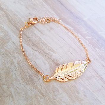 Tropical Leaf Bracelet