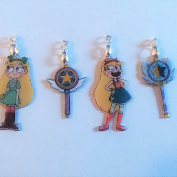 Star vs the Forces of Evil Necklaces and Keychains - Star against the forces of the evil necklaces and key chains
