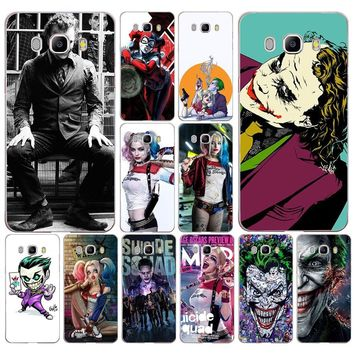 232DD suicide squad Joker harley quinn Margot  Case Cover for Samsung Note 3 4  8 for Galaxy a3 a5 2017 j3 j5 j7 2015 2016 2017