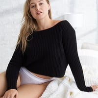 Aerie Crop Sweater, True Black
