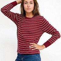 American Apparel - Unisex Knit Thin Stripe Sweater Crew Neck