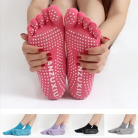 Women 5 Toes Yoga Gym Dance Sport Exercise Non Slip Massage Fitness Warm Socks [8069652295]