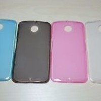 For Google Nexus 6 Soft TPU translucent Color Silicone Cover