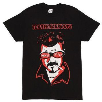 Trailer Park Boys Ricky Smokes Let's Go Sunglasses Men's T-Shirt - Black