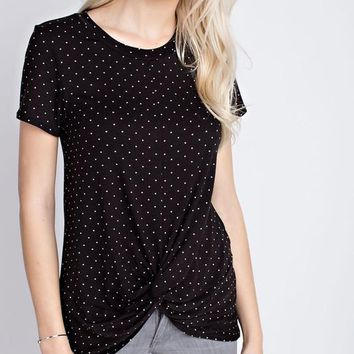 Black Polka Dot Tee
