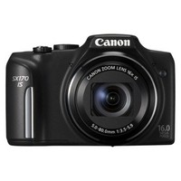 Canon PowerShot SX-170 16MP Digital Camera with 16x Optical Zoom - Black