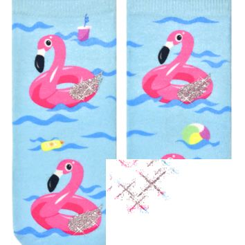 Flamingo Floats Ankle Socks