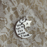 I Love You To The Moon & Back Necklace - Mother, Grandmother, Aunt, Mother's Day, Mother's Necklace