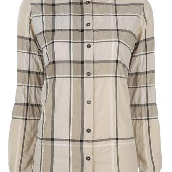 Burberry Brit Checked Button Down Shirt