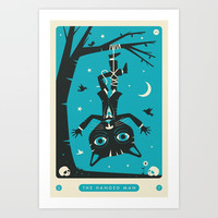 TAROT CARD CAT: THE HANGED MAN Art Print by jazzberryblue