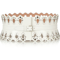 Alaïa - Studded laser-cut leather belt