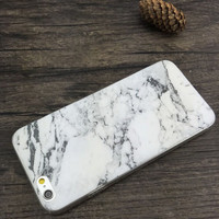 1pcs Silicone Slim Granite Marble Texture Soft TPU Gel Back Case Shockproof  anti-knock Phone Cases For iphone 5 5s 6 6s plus